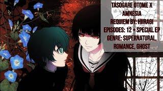 "English Title: Dusk Maiden of Amnesia Original Title: 黄昏乙女×アムネジア ""Tasogare Otome x Amnesia"" Episodes: 12 + 1 Special (13) Runtime: 20-24 mins per ..."