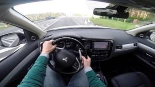 Mitsubishi Outlander PHEV plug-in hybrid 2014 POV test drive GoPro