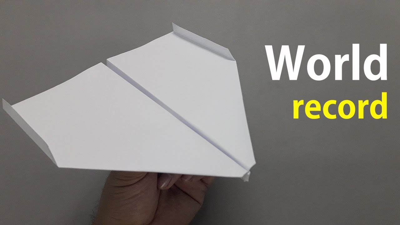 how to fold the world record paper airplane youtube