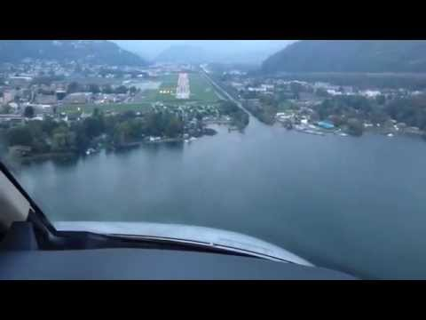 CJ4 Exec Flight - Evening Approach into Lugano (LFPB to LSZA)