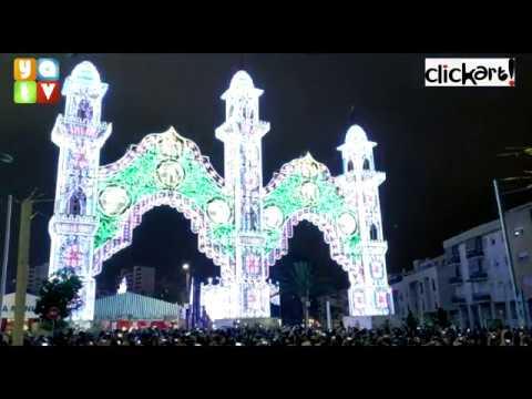 Ya luce el alumbrado de la Feria Real de Algeciras 2019