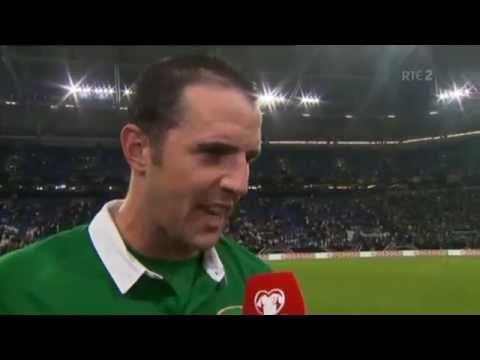 Germany v Republic of Ireland - Post Match Interview- John O'Shea (14/10/14)