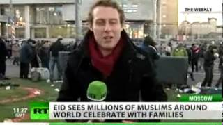Russian Muslims embrace spirit of major holiday . . .