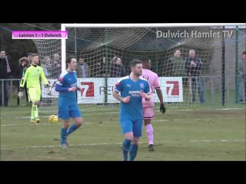 Leiston 2-2 Dulwich Hamlet, Ryman League Premier Division, 28/01/17 | Match Highlights