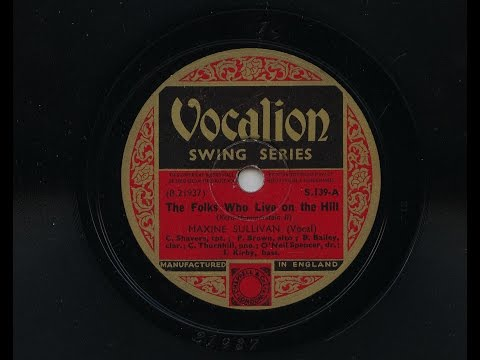 Maxine Sullivan 'The Folks Who Live On The Hill' 1937 78 rpm