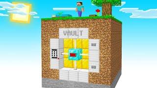 I Built A SECRET BANK VAULT In Sky Block!