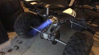 yamaha yfz450 se full hmf exhaust backfires crazy