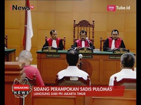 Pembacaan Dakwaan Sidang Perdana Perampokan Sadis Pulomas - INews Breaking News 15/06