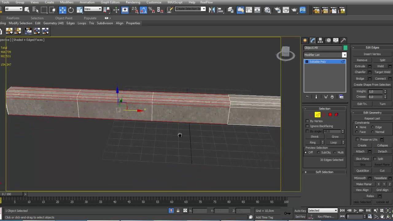 Tutorial Modelling Sidewalk Quot Trottoir Quot 3ds Max Youtube