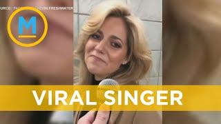 This unsuspecting subway singer has gone viral | Your Morning
