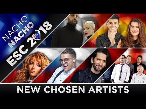 ESC 2018 - All Artists Chosen (New!) 🇦🇱🇬🇪🇫🇷🇨🇿🇷🇺🇪🇸