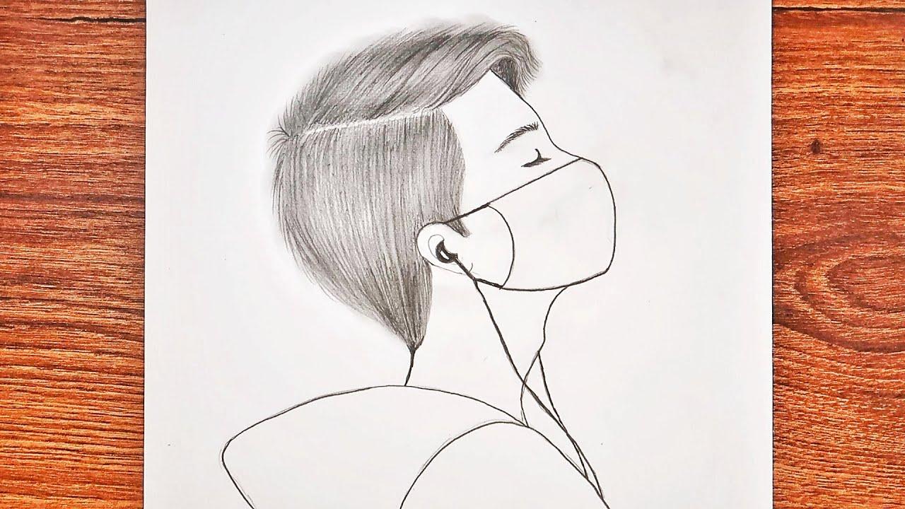 EASY ANİME BOY DRAWİNG / Kolay Yoldan Maskeli Anime Erkek Çizimi