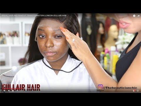 BRIDAL HAIR AND MAKEUP TRANSFORMATION |RED LIP  |EULLAIR HAIR thumbnail