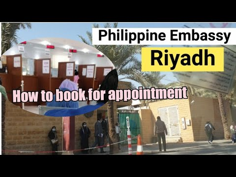 Going to Philippine Embassy Riyadh | How to book for appointment?