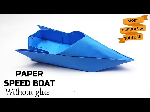 How to Make Paper Speed Boat   Origami Boat   Paper Boat Folding   Easy Paper Crafts Without Glue  