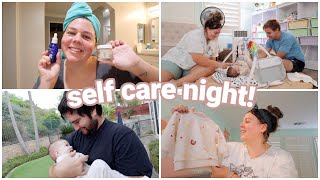 self care night + Grace's first rainy day