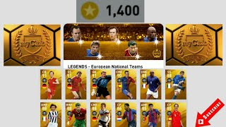 1,400 Coins Legends European National Teams Pack Opening PES 2020 Mobile 8/14/20