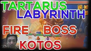 [ENG SUB] SUMMONERS WAR TARTARUS LABYRINTH BOSS KOTOS FIRE BOSS AND OTHER MODE GAMEPLAY GUIDE REVIEW