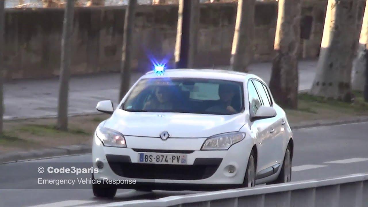 voiture de police banalis e unmarked police car responding paris youtube. Black Bedroom Furniture Sets. Home Design Ideas