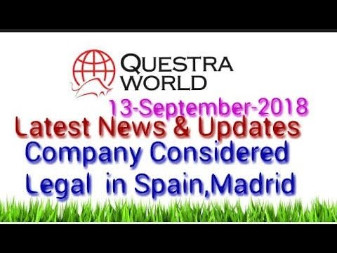 Questra World | AGAM | FWAM | Company considered legal in few Countries | 13-09-2018