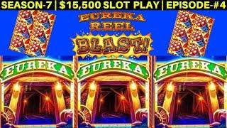 EUREKA Reel Blast Lock It Link Slot Machine Max Bet Bonuses | SEASON-7 | EPISODE #4