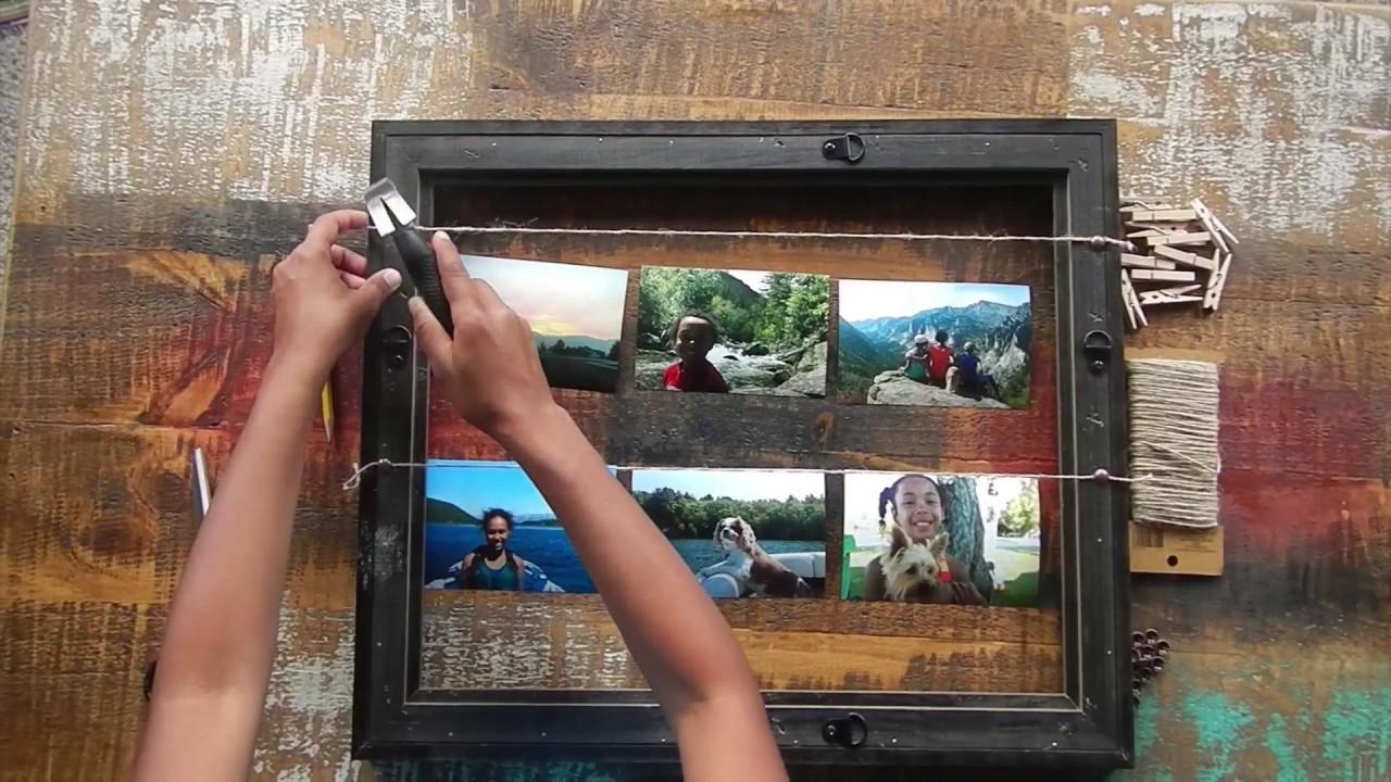 How To Make A DIY Clothesline Frame - YouTube