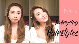 MẶT BÁNH BAO NÊN ĐỂ KIỂU TÓC GÌ | Everyday Hairstyles | THANH MÈO OFFICIAL