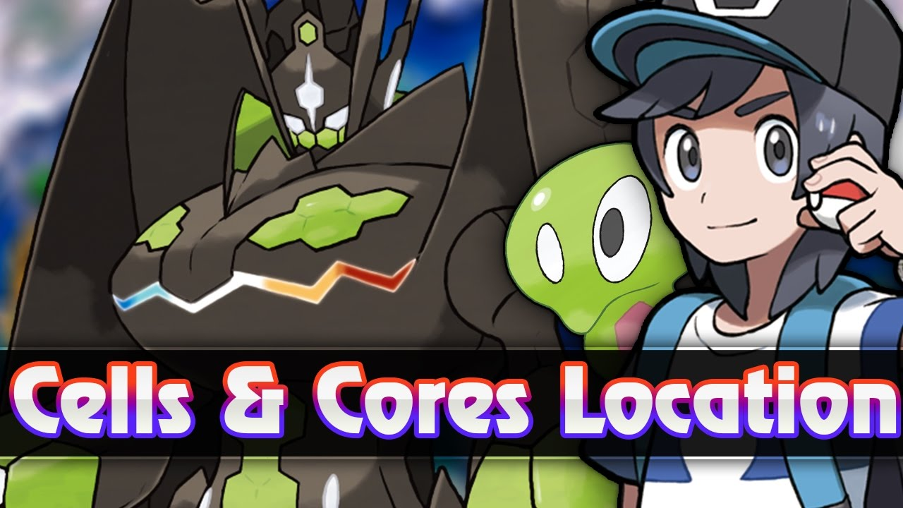pokemon sun moon all zygarde cell core locations how to get