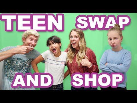 Teen Swap Halloween Costume Shopping Challenge Klai vs Paola Battle Royale