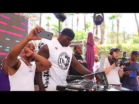 Shaquille O'Neal AKA Dj Diesel at Rehab Beach Club