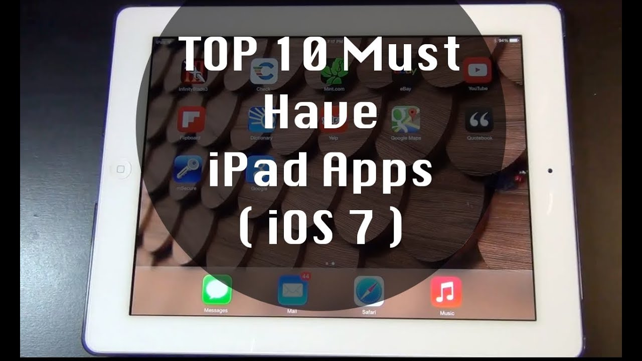 The Top 10 Ipad Apps For Special >> Top 10 Must Have Ipad Apps Youtube