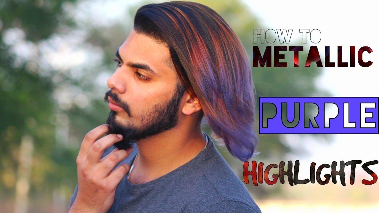 2017 Mens Hair Purple Highlights Mens Hair Colour