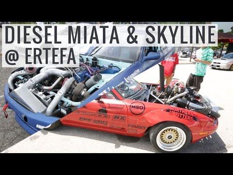 Drifting, Show Cars, a Diesel Miata & Skyline - Ertefa Meet Toronto