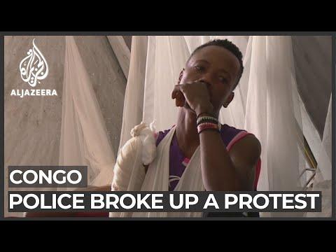 DR Congo police clear protesters demanding UN action