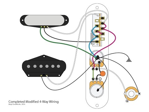 4 way switch wiring diagram fender modified 4 way telecaster mod youtube  modified 4 way telecaster mod youtube