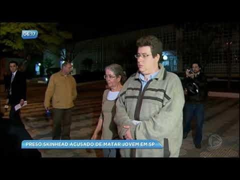 Skinhead acusado de matar jovem é preso em São Paulo