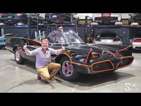 This is the Original BATMOBILE! Reactions in Las Vegas
