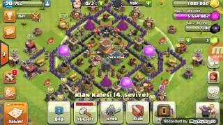 Ilk Videomuz#Clash Of clans# Klanimiz