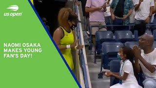 Naomi Osaka Gives Young Fan an Olympic Pin!