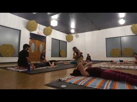 Hamstring Compression from Thai Massage Jam® at Shine On Yoga in San Marcos, TX