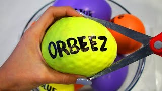 how to make orbeez beados play foam slime with balloons