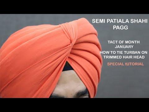 TACT OF MONTH JANUARY  Semi Patiala Shahi Pagg  Patiala Shahi Turban