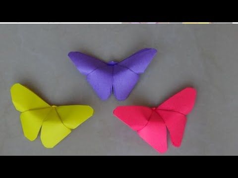 D.I.Y EASY PAPER BUTTERFLY NO GLUE | paper craft
