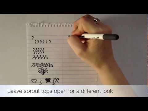 Henna Alphabet Element U Sprouts