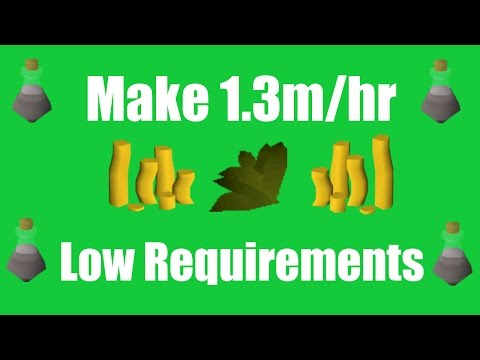 [OSRS] Make 1.3M/hr with Low Requirements - Oldschool Runescape Money Making Method!