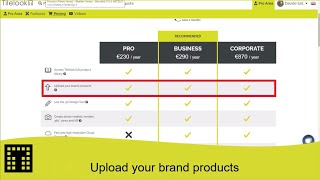 Upload your brand's products