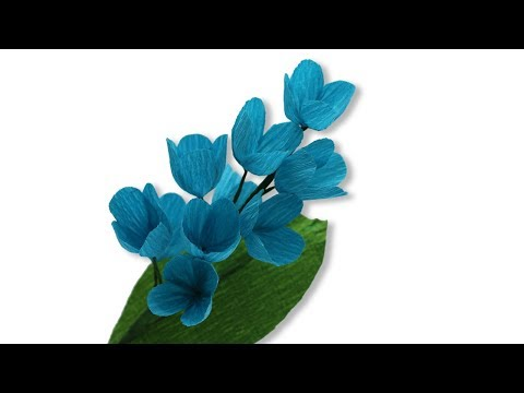 How to Make Easy DIY MallroomTulip Artificial Flower from Crepe paper  Wedding Bouquet Home Decor Tu