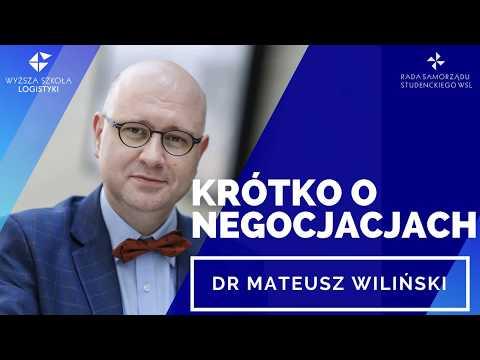 Krótko O Negocjacjach - Dr Mateusz Wiliński | Webinaria WSL