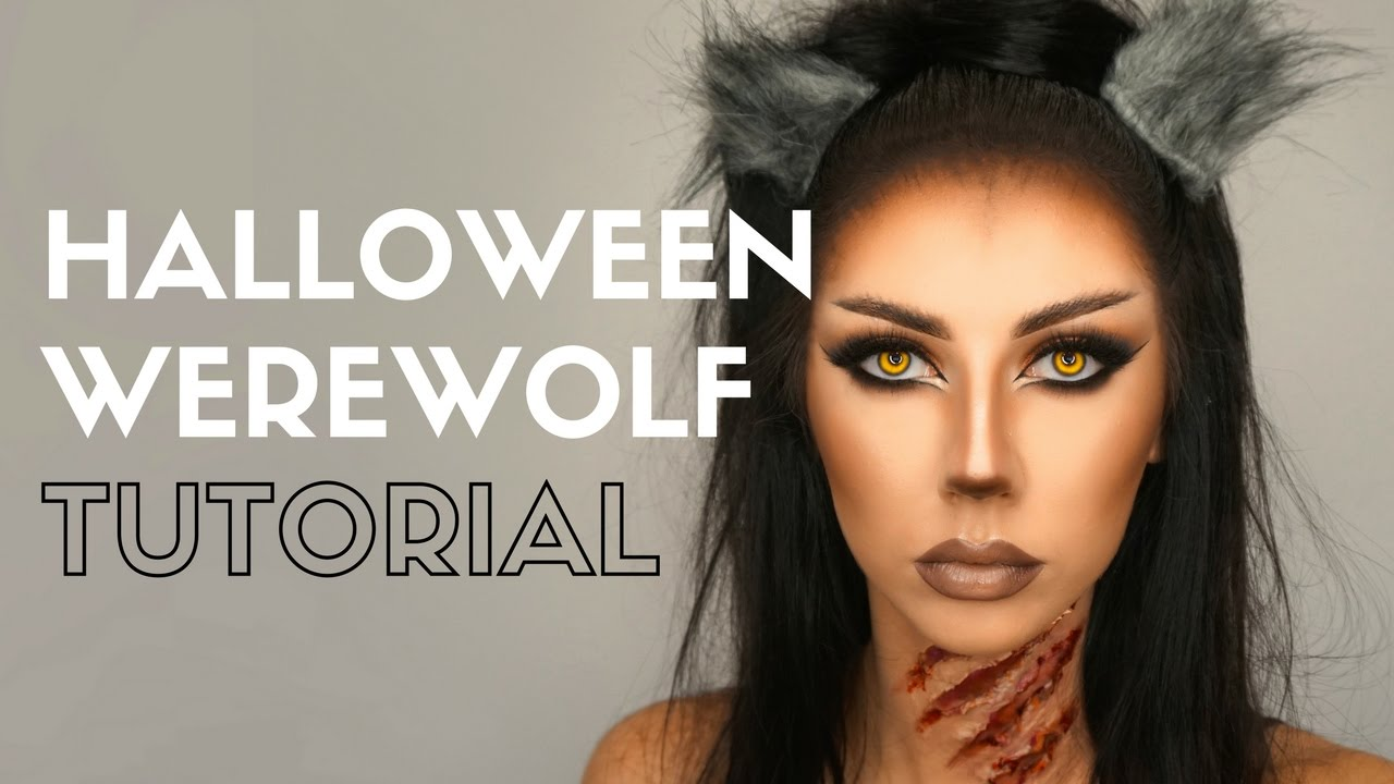 Halloween Werewolf Makeup Tutorial ○ Bella Makeup - YouTube