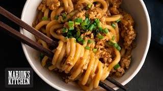 Quick Chicken and Peanut Udon - Marion&#39s Kitchen